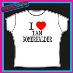 I LOVE HEART IAN SOMERHALDER VAMPIRE DIARIES TSHIRT